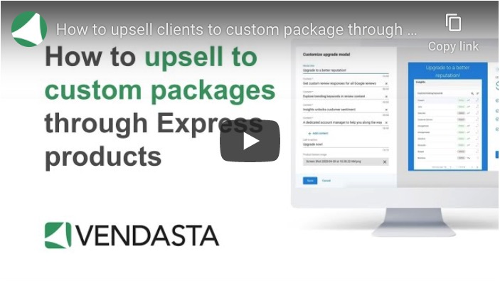 How to upsell to custom packages through Express products