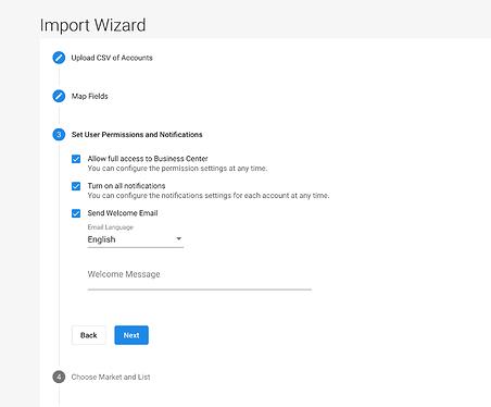 Bulk Import_Configure user settings
